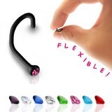 Piercing Nez flexible noir